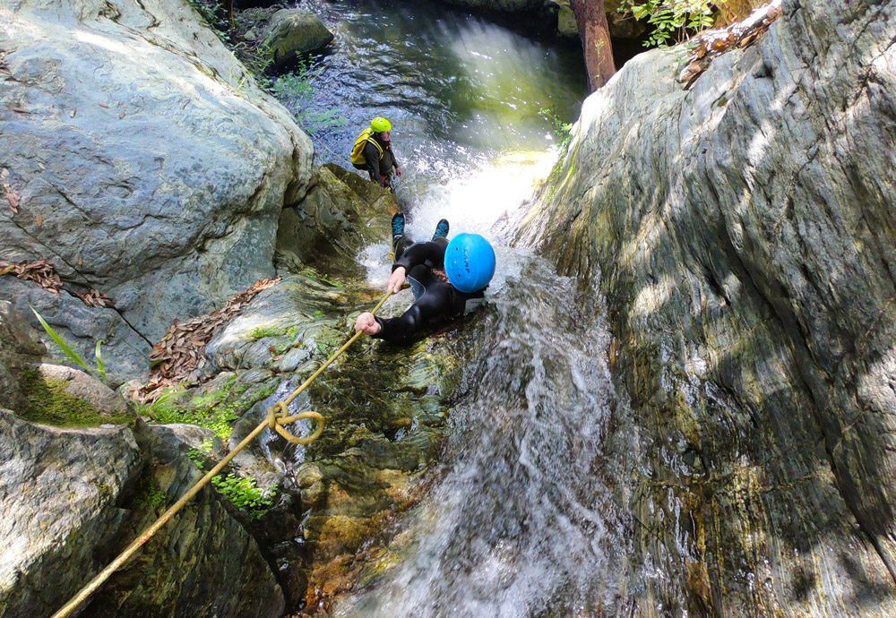canyoning corse corcica toboggan